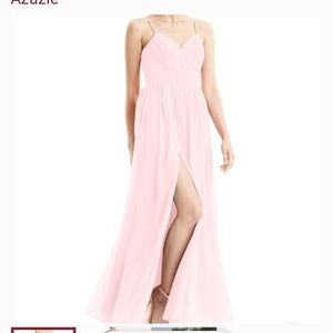 Blush Pink Azazie Cora Dress - worn once